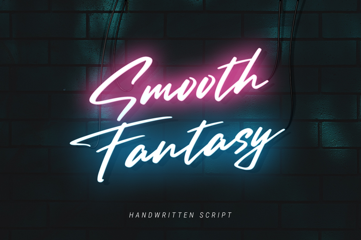 Smooth Fantasy Script example image 1