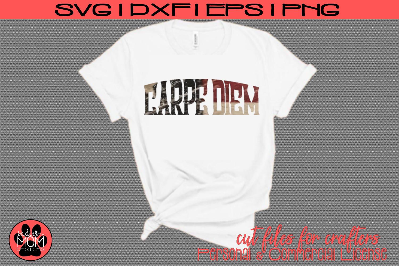 Carpe Diem - Distressed & Smooth | SVG Cut File example image 1