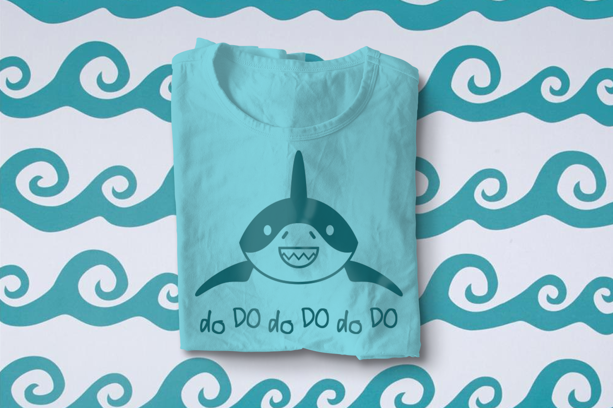 Smiling Shark SVG File Cutting Template example image 2