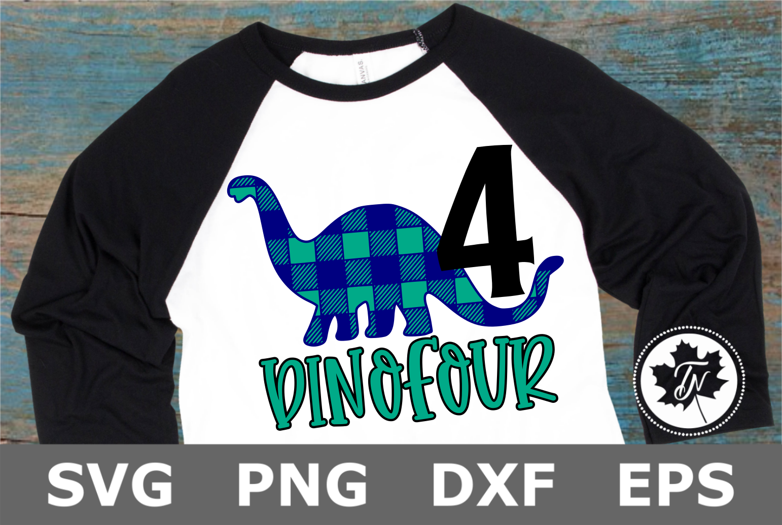 DinoFour - A Birthday SVG Cut file example image 1