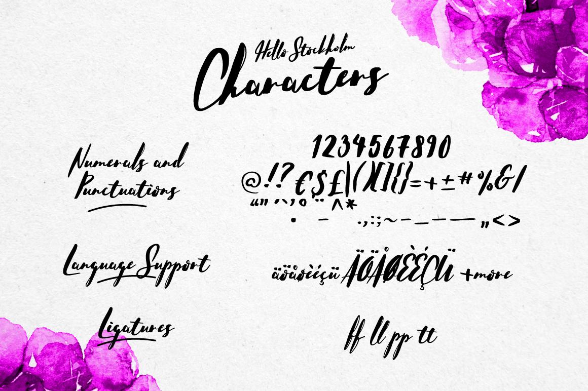 Hello Stockholm - Handmade Typeface example image 2