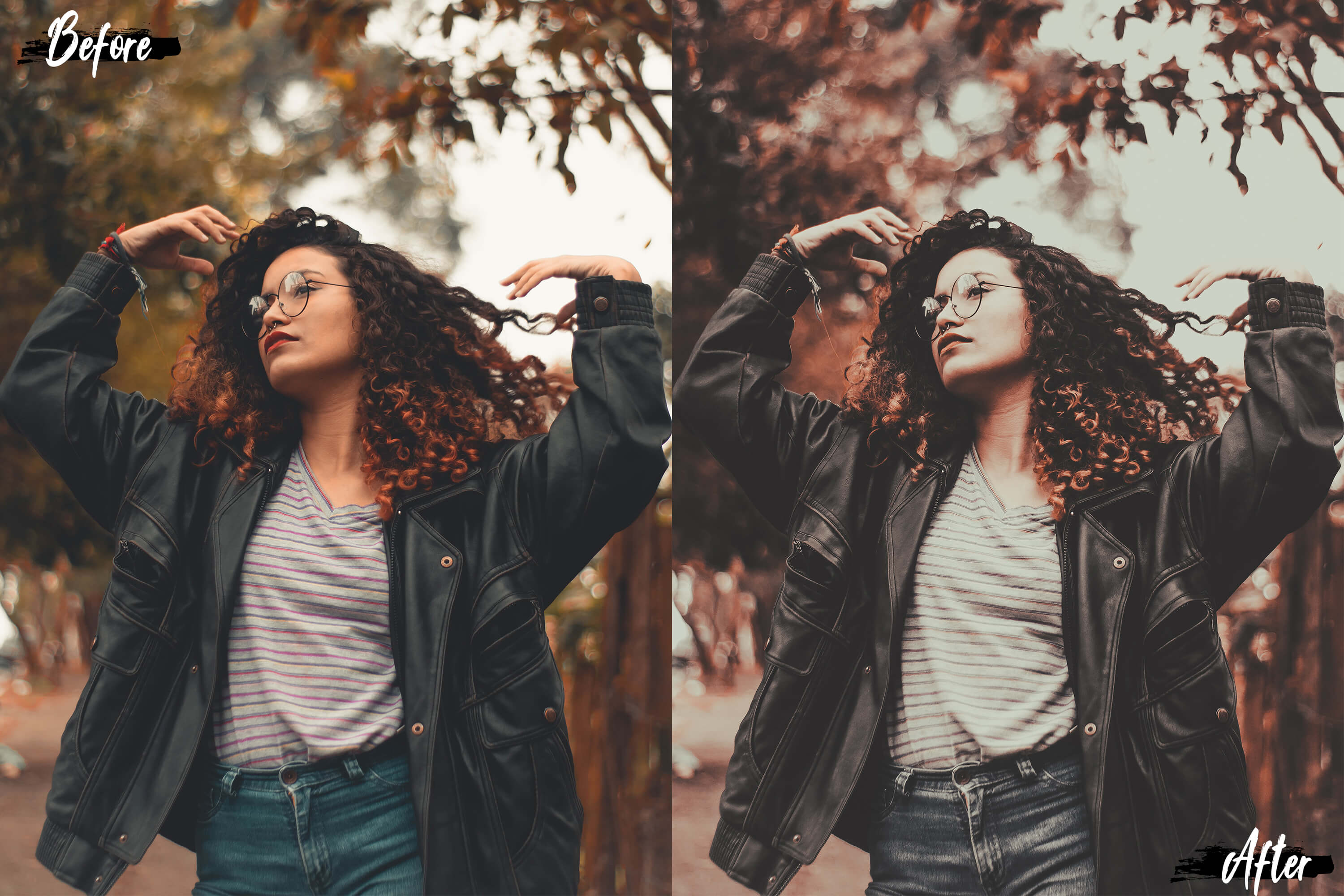 5 Dreamy Autumn Mobile Lightroom Presets, fall filter Adobe example image 4
