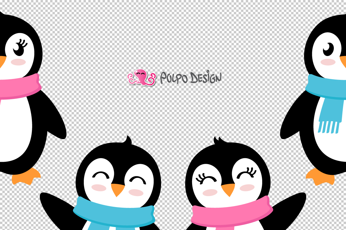 Girl and Boy Penguins SVG example image 3