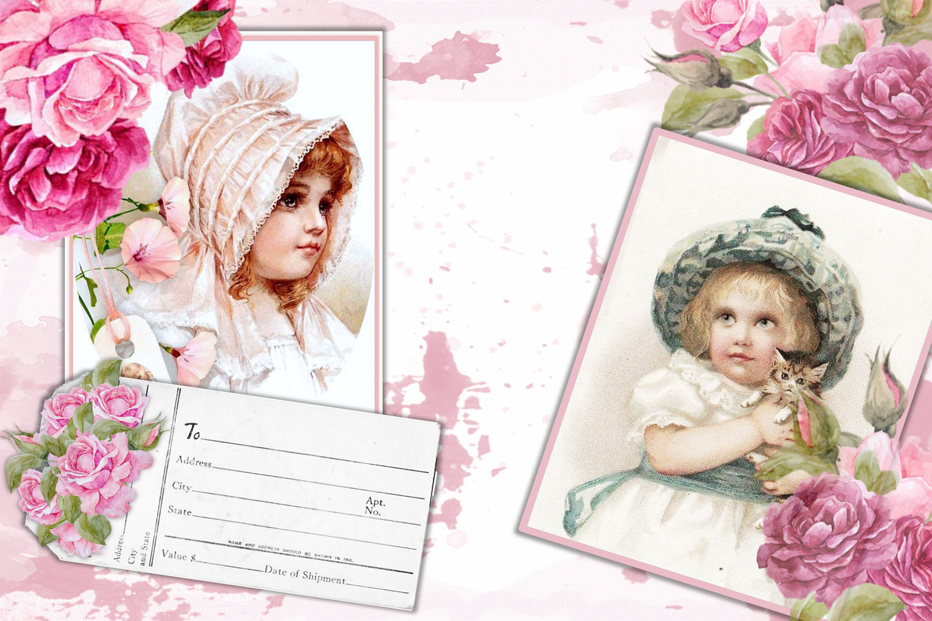 Printable Journaling Kit Romance and lace JPEG PDF PNG example image 3