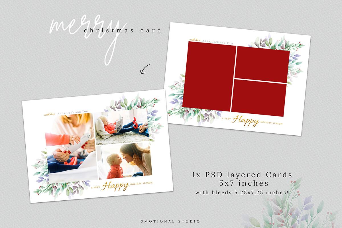 Christmas Postcard Editable Template 5x7 example image 5