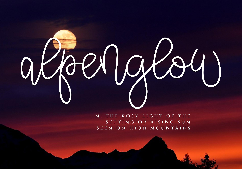 Alpenglow - Bouncy Script Font example image 4
