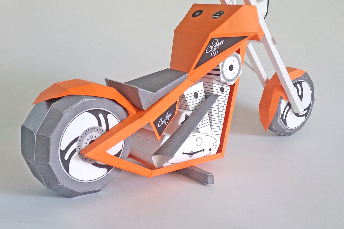 DIY Paper bike - 3d papercraft example image 2