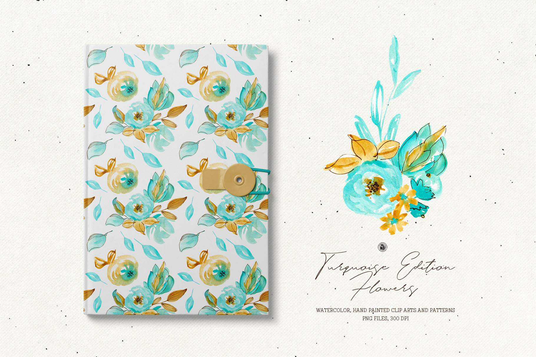 Turquoise Edition Flowers example image 2