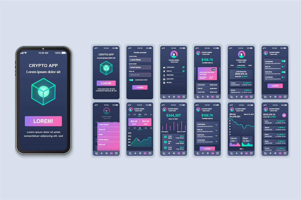 Bundle Mobile App UI Kit Screens example image 13
