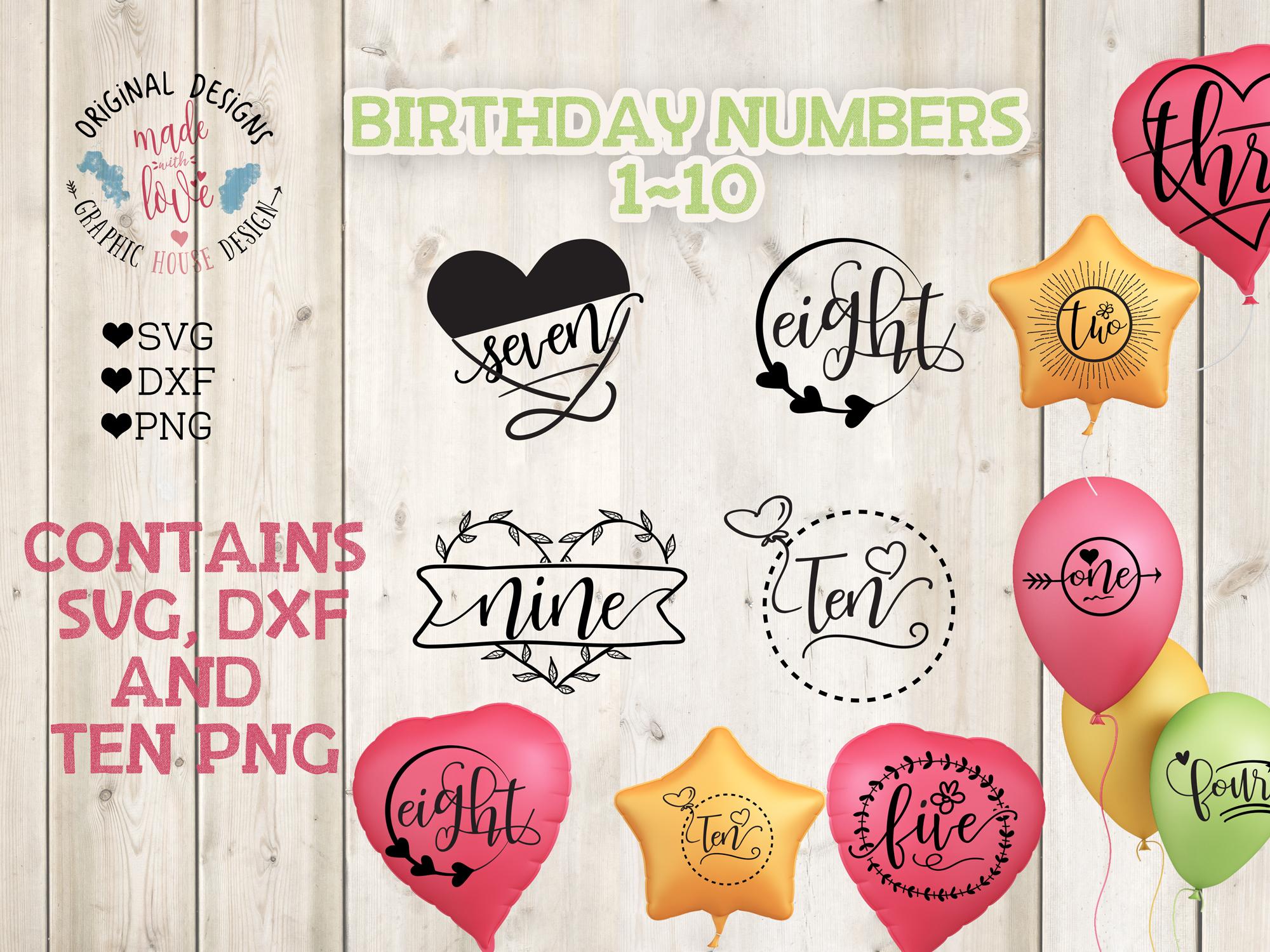 Birthday Numbers Bundle  example image 2