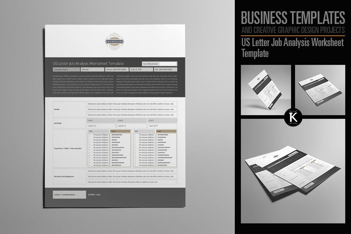 US Letter Job Analysis Worksheet Template example image 1