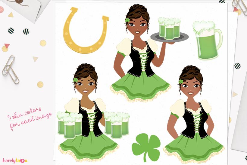 Irish woman character clip art L372 Cassie example image 1