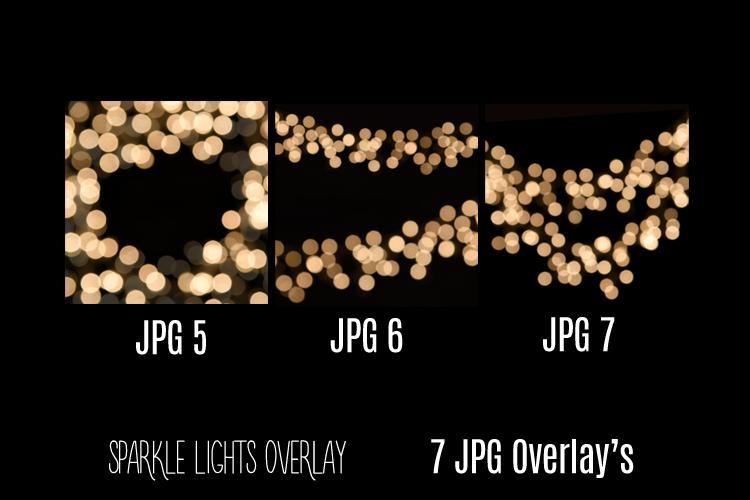 Digital Sparkle Bokeh Lights Effect Overlay JPG example image 3