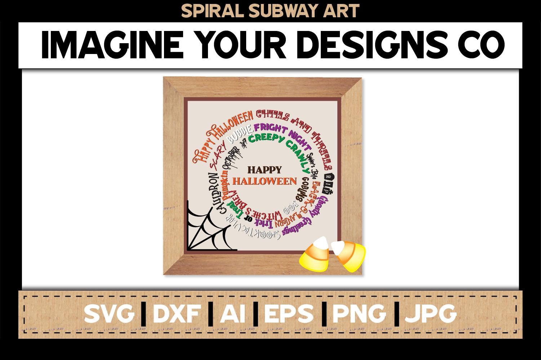 Spiral Subway Printable SVG Clipart Bundle example image 3