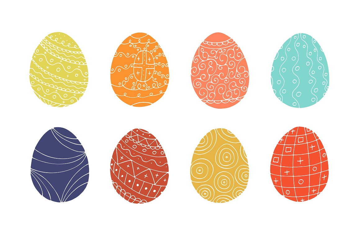 Color collection of Easter eggs. example image 4