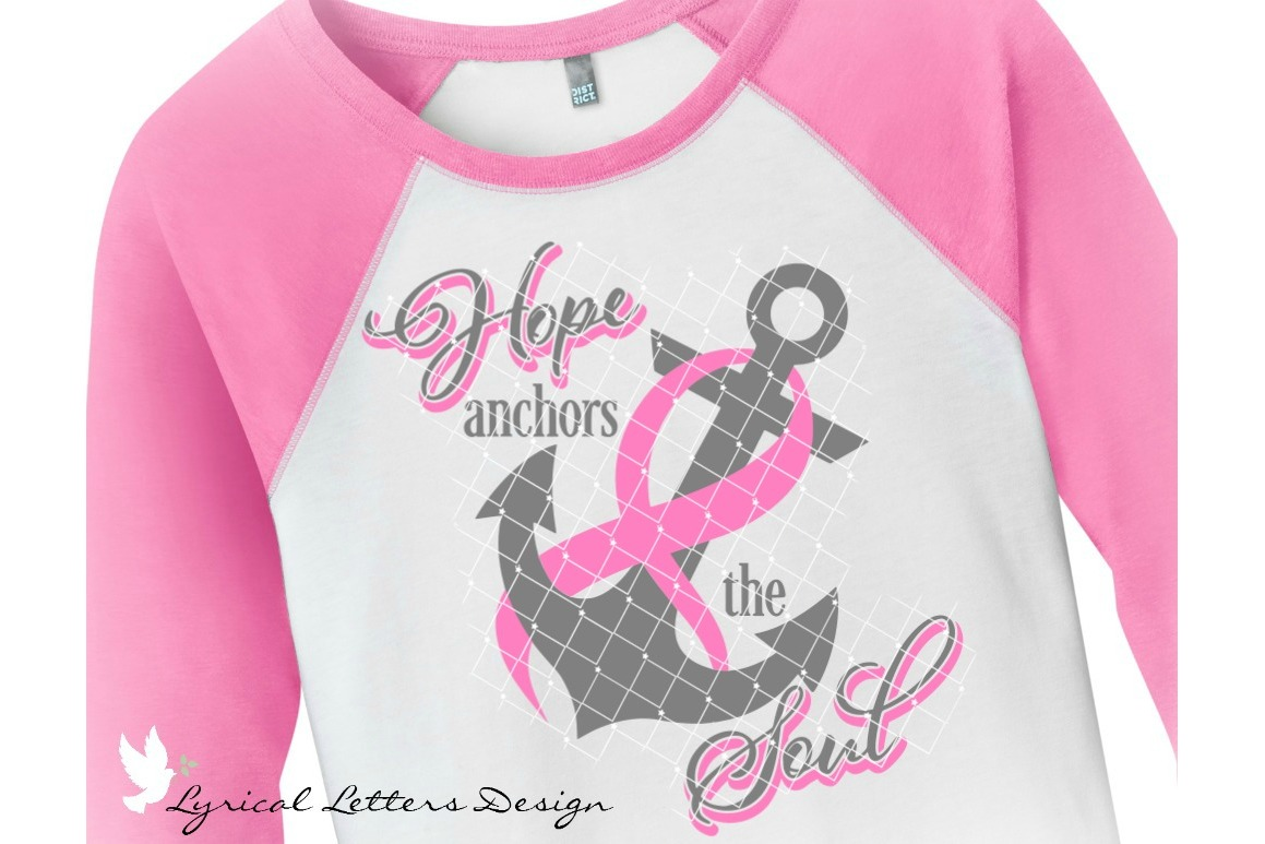 Hope Anchors the Soul Breast Cancer Pink Ribbon SVG LL166D example image 2