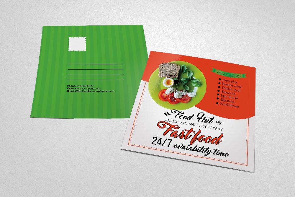 Открытки в ресторанах, открытка