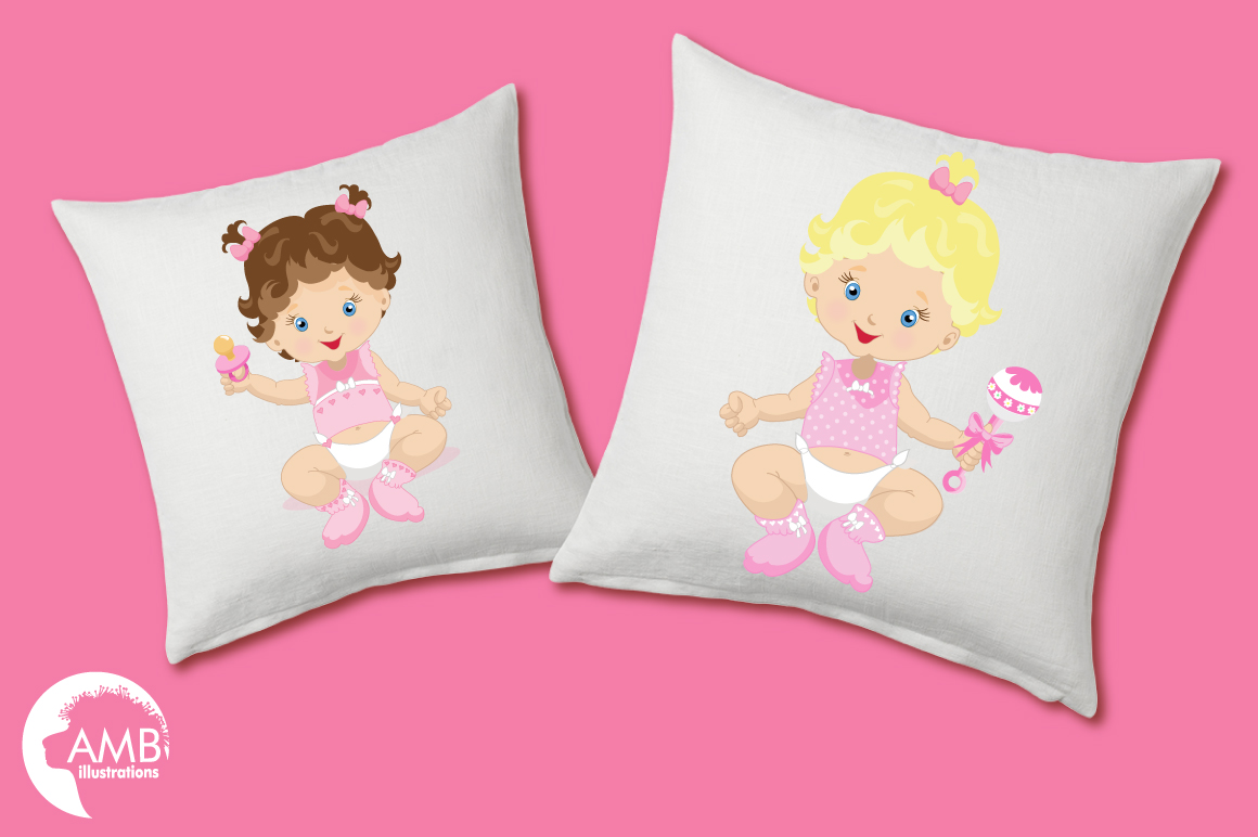 Baby Girl clipart, graphics illustrations AMB-830 example image 2