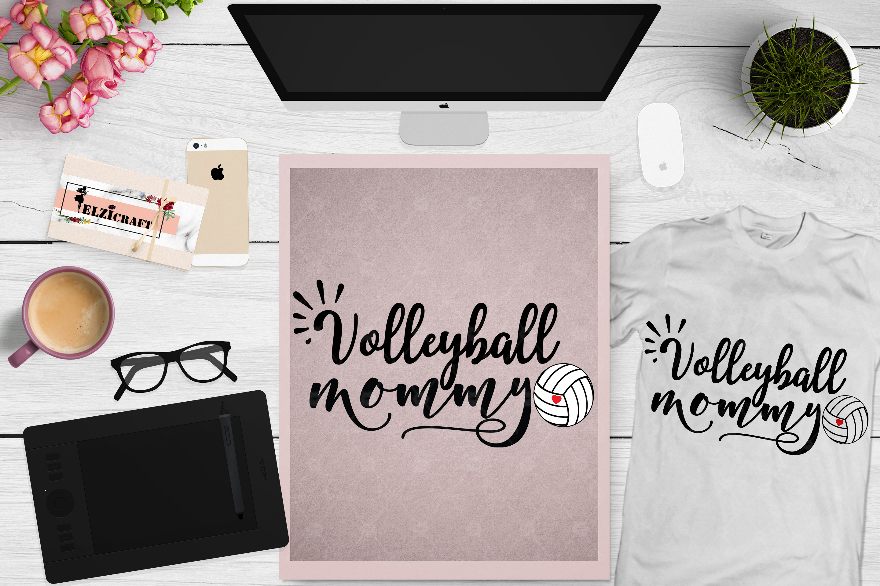Volleyball mom, Mom Life, Mommy, Mom Squad SVG Cut File example image 1