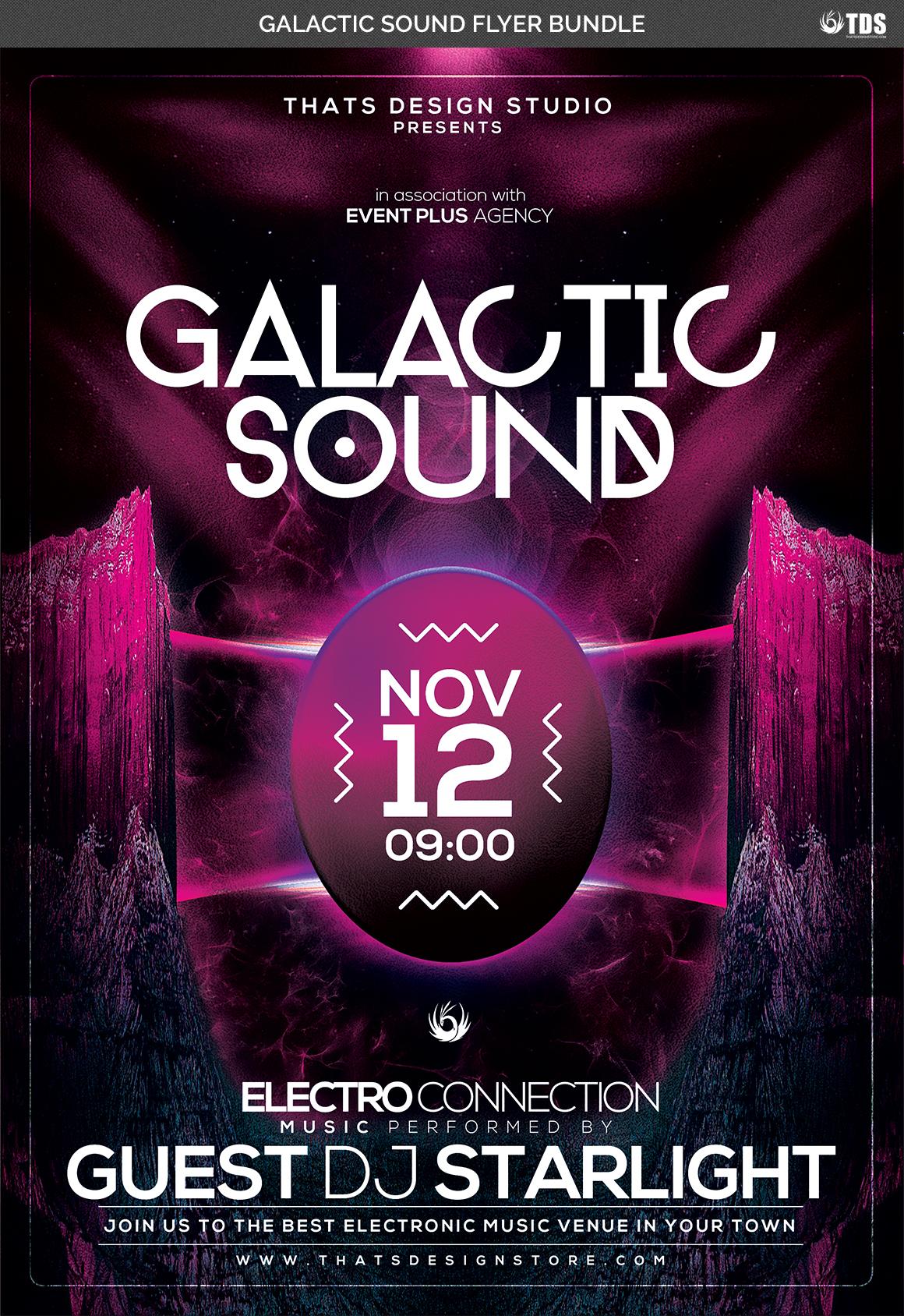 Galactic Sound Flyer Bundle example image 7