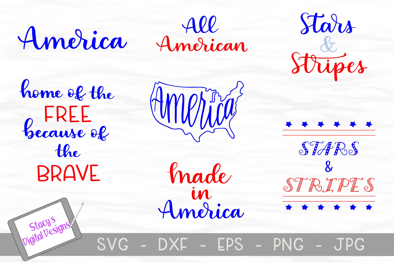 Patriotic SVG Bundle - 4th of July Bundle example image 1