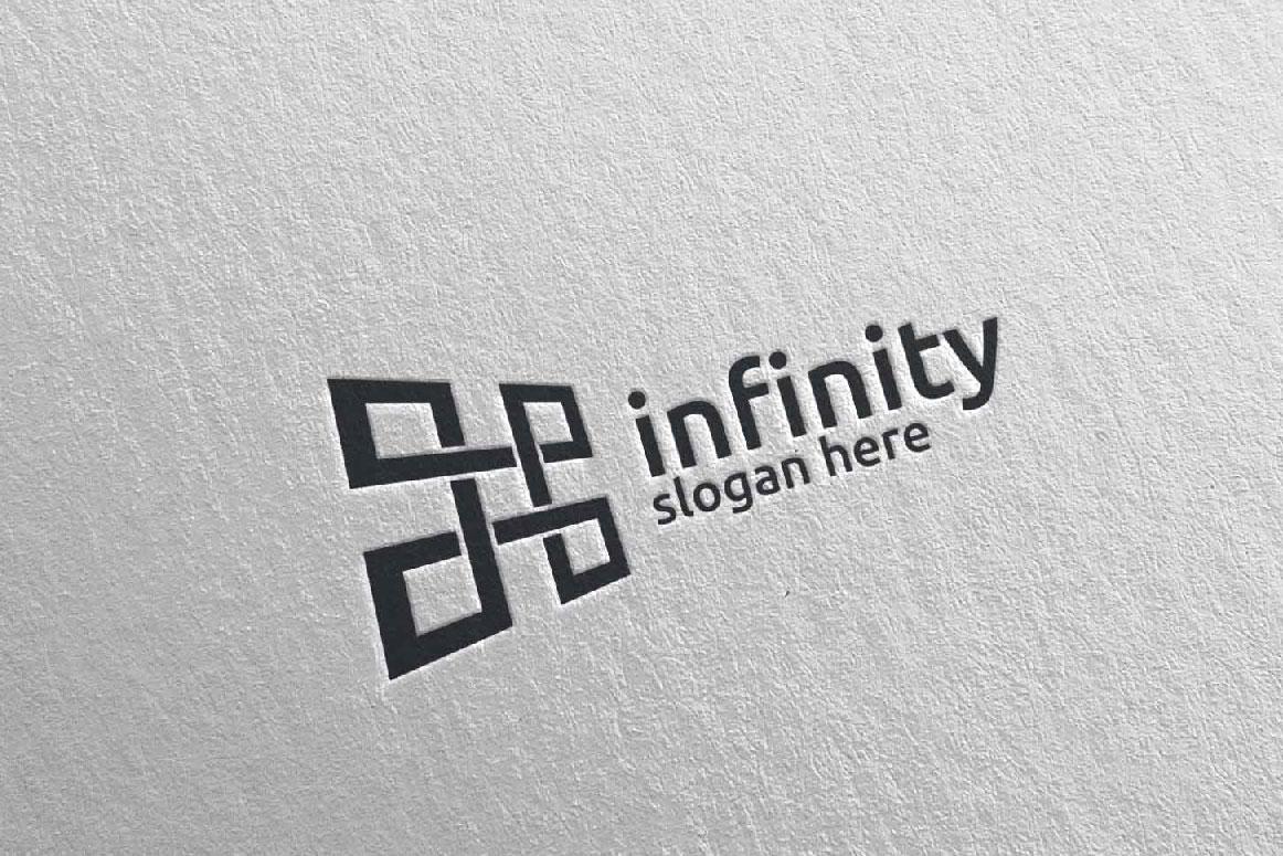 Infinity loop logo Design 25 example image 4