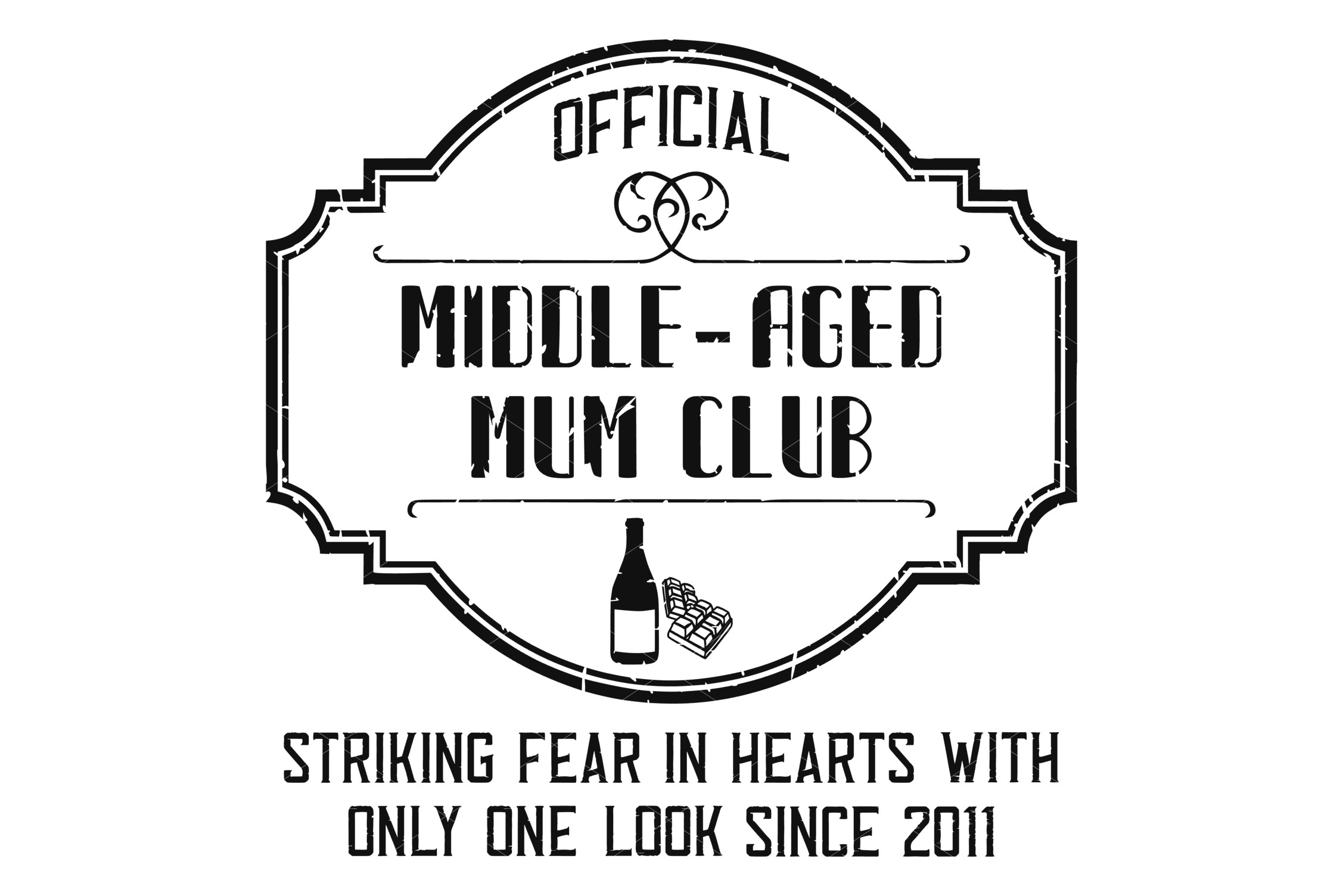 Middle-Aged Mum SVG, Sublimation PNG and Printable example image 4