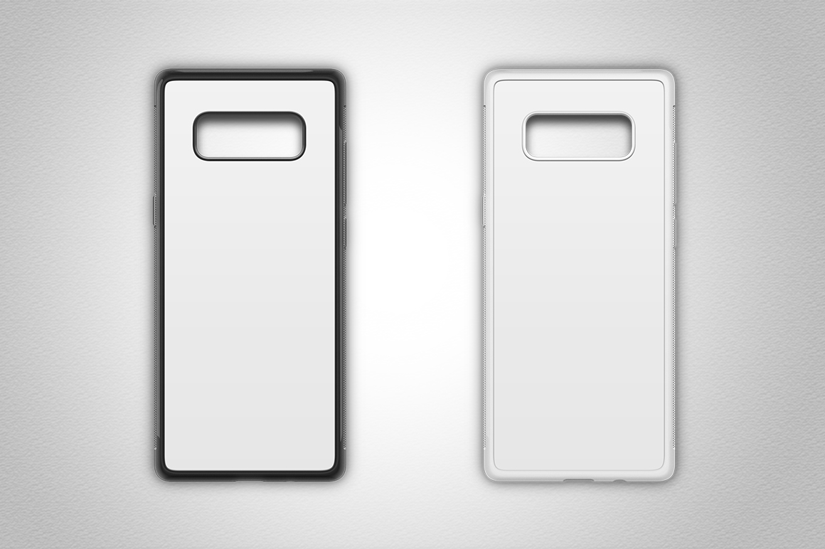 Galaxy Note 8 2d Rubber Flex Case Design Mockup Back example image 2