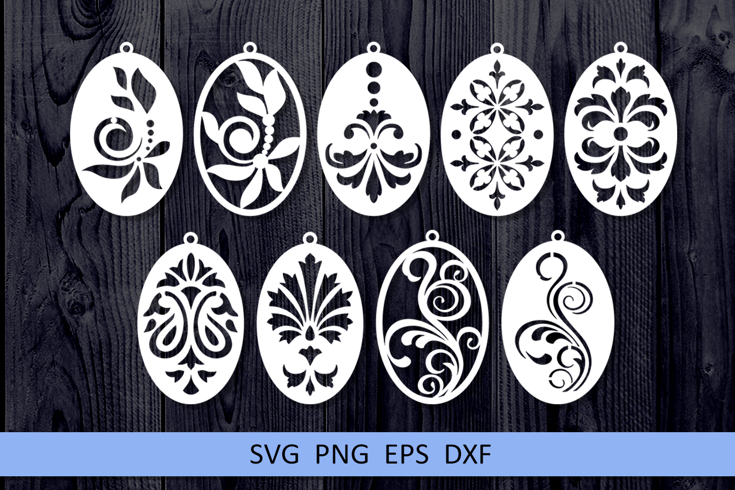 9 Damask earrings svg Leather earrings svg Necklace svg example image 4