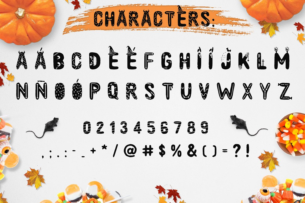 Spooky font with EXTRAS! example image 2
