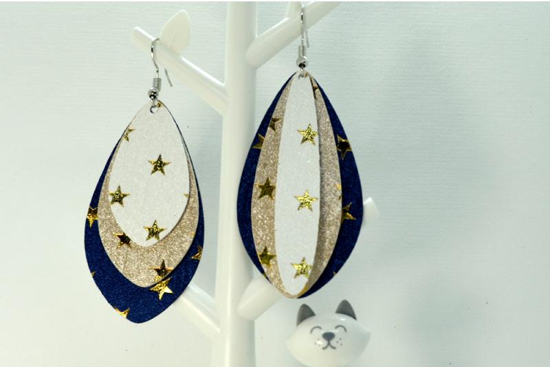 Earrings template SVG, DIY earrings template example image 4