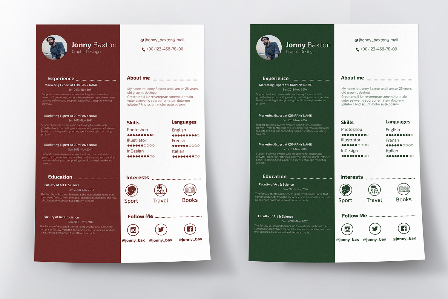 Clean Resume example image 2