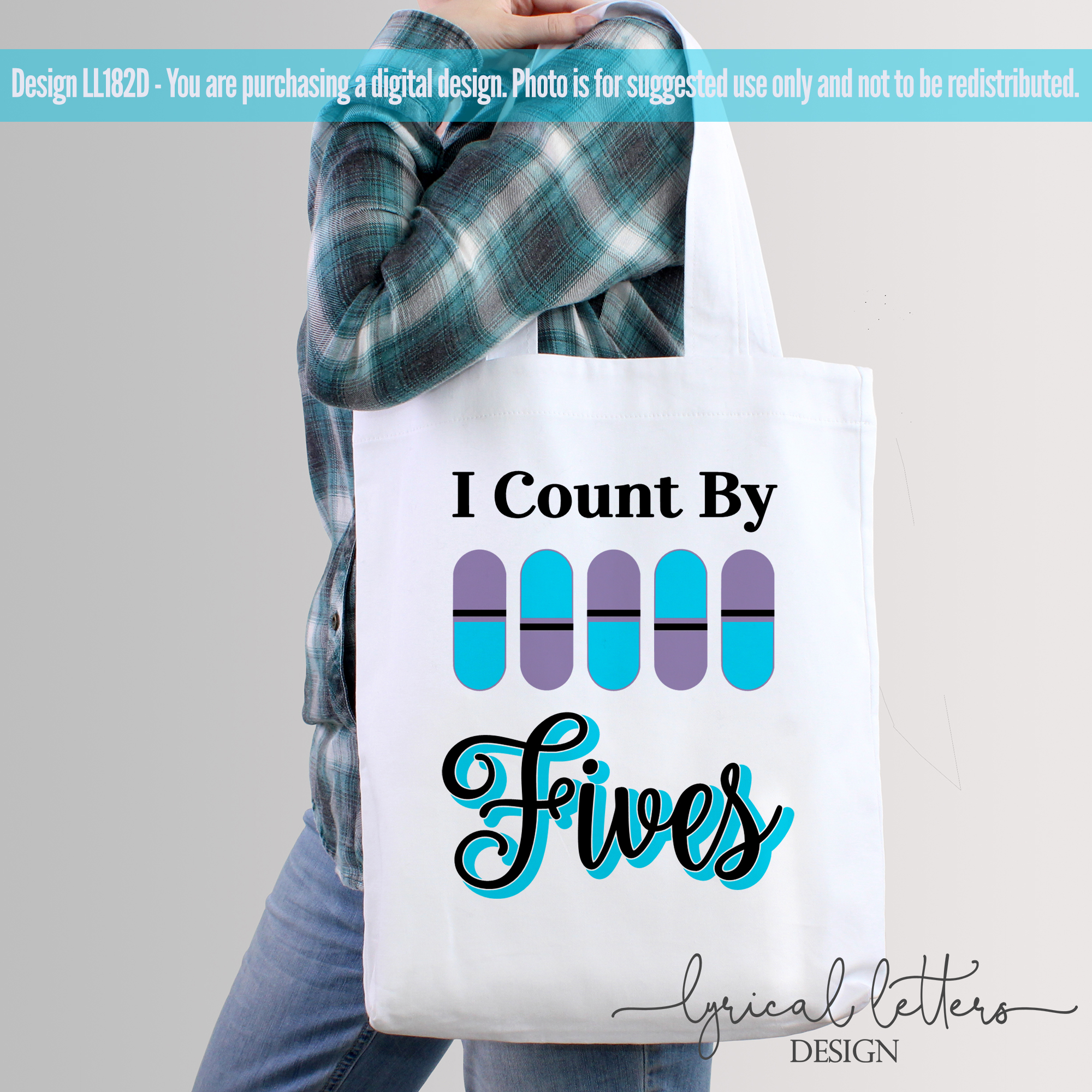 I Count by Fives Pharmacy SVG DXF Cut File LL182D example image 3