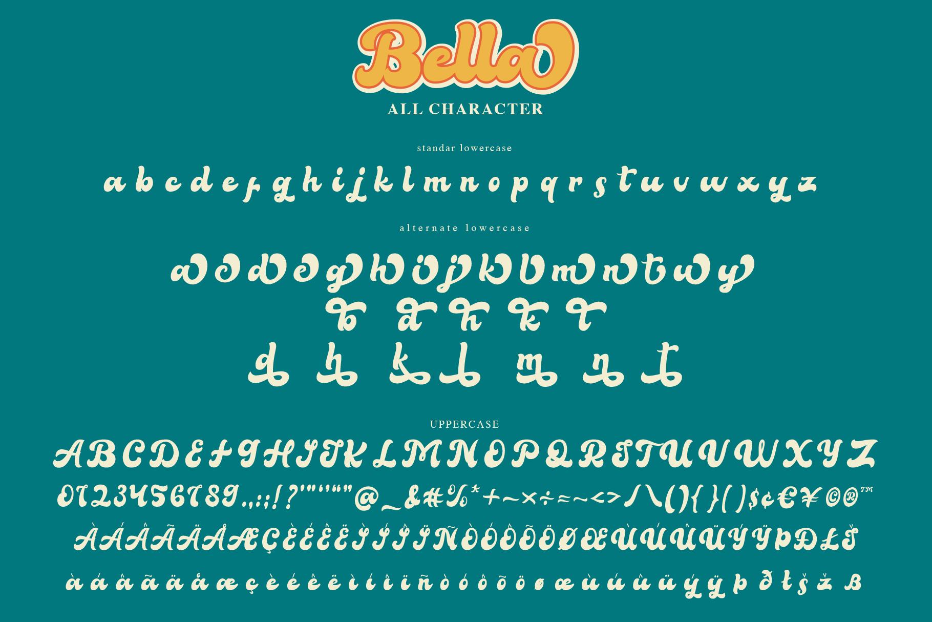 Bella - Vintage Script Font example image 7
