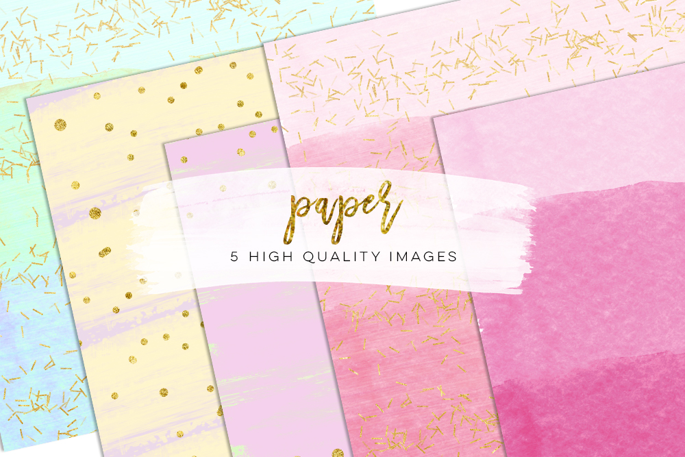 scrapbooking confetti, rainbow watercolor texture, pastel paper, Paper Party Picnic papers, Pastel Watercolor Digital Paper, Green pink mint example image 1