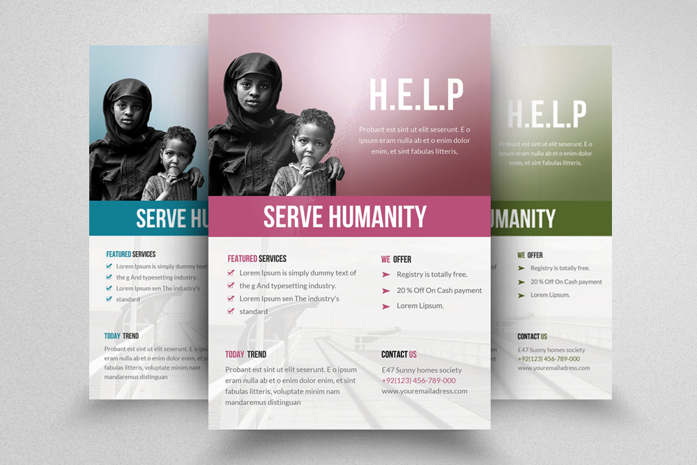 6 Charity & Donation Flyers Bundle example image 5