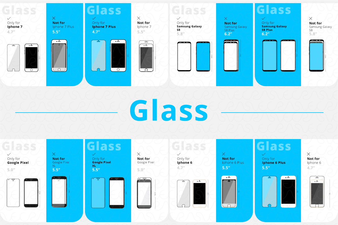 Phone Accessories Customer Guide Info-Graphics Illustrations example image 7