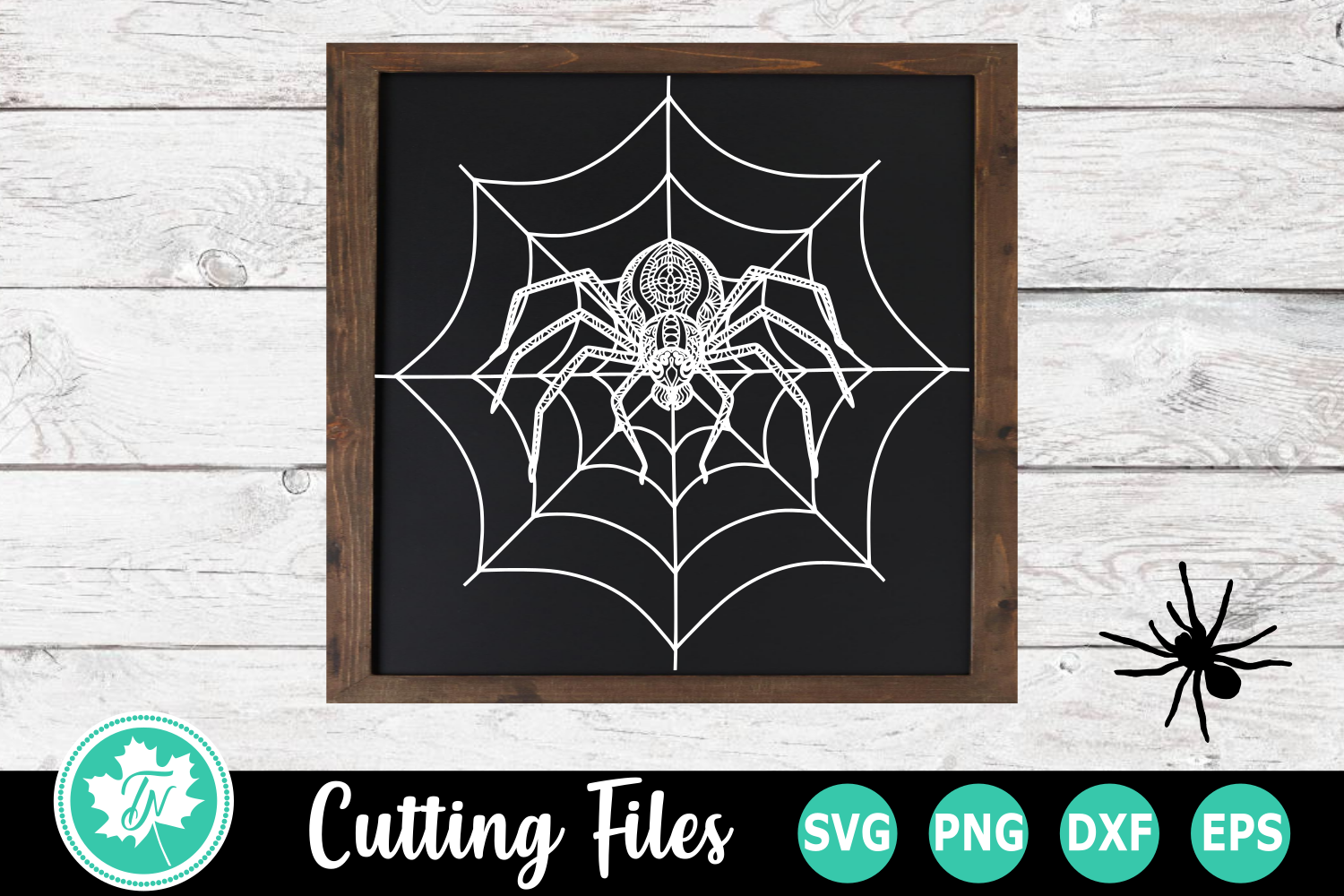 Zentangle Spider - An Zentangle SVG Cut File example image 1