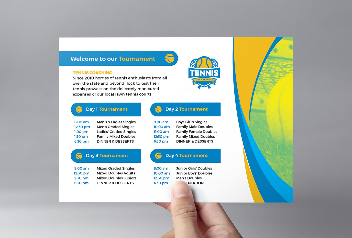 Tennis Event Flyer Template example image 2