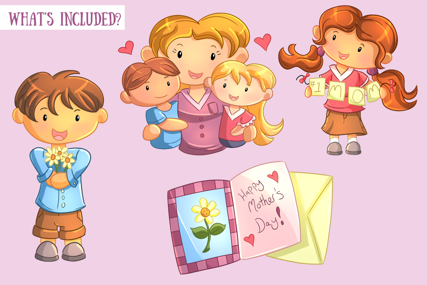 Mother's Day Clip Art Collection example image 2