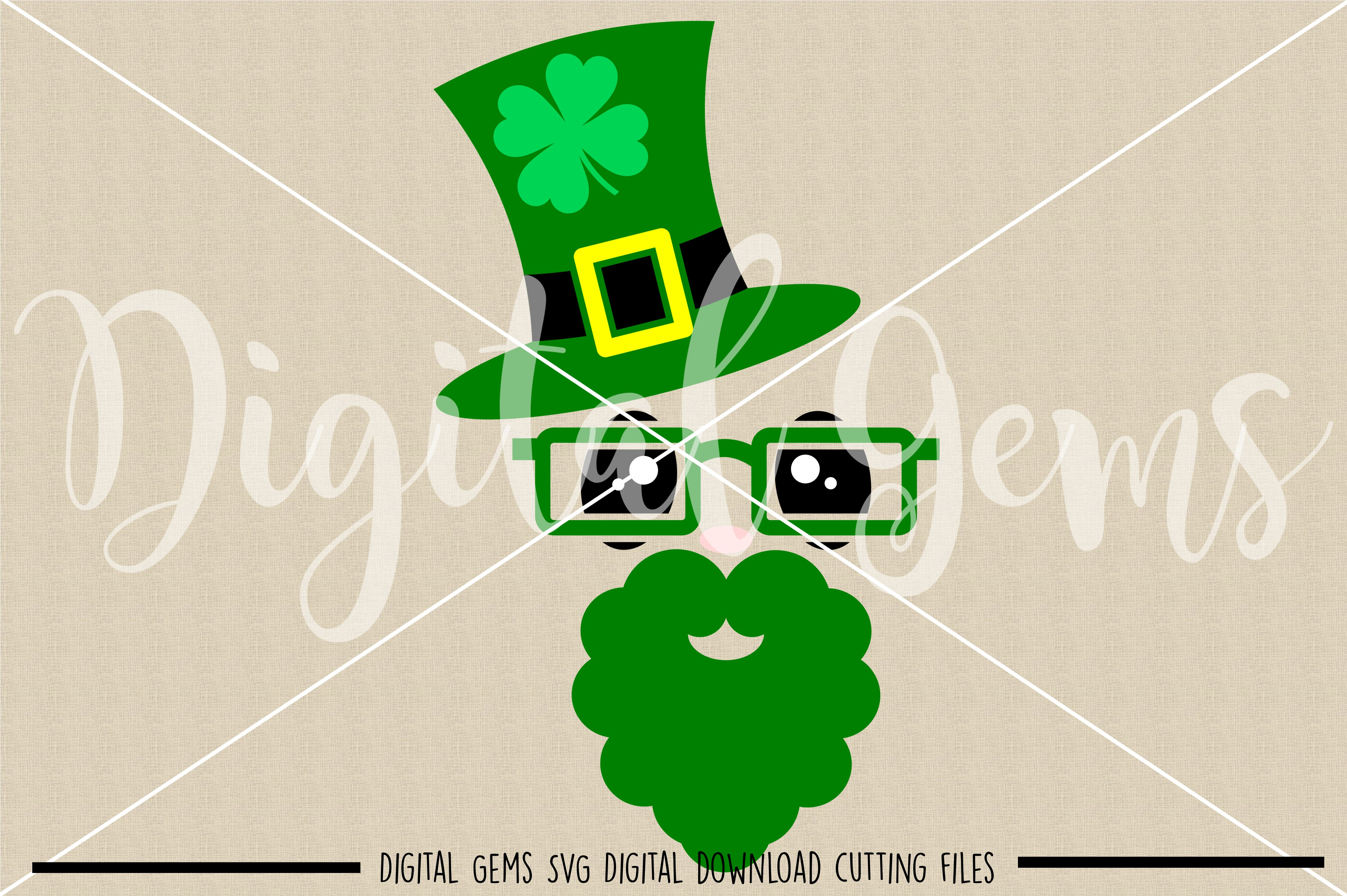 St Patrick's Day leprechaun SVG / PNG / EPS / DXF Files example image 2