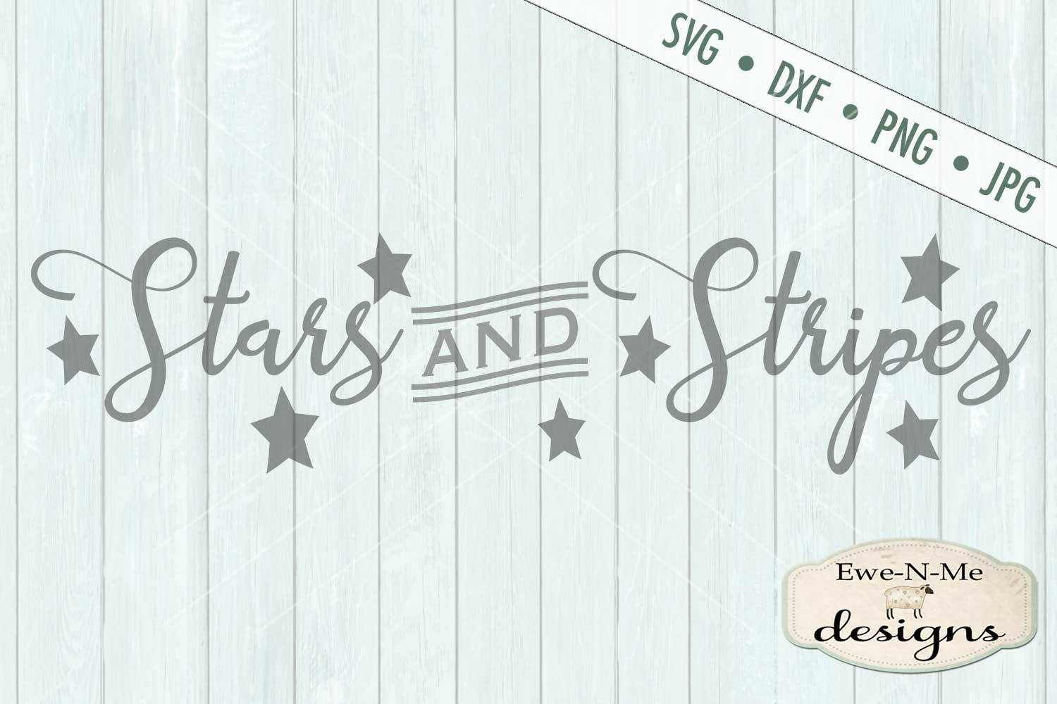 Stars and Stripes - Patriotic July 4th SVG DXF Files example image 2