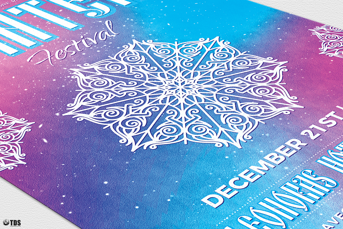 Winter Festival Flyer Template V1 example image 6