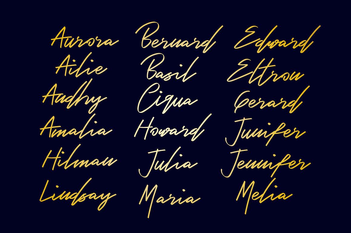 Bambang - Signature Font example image 2
