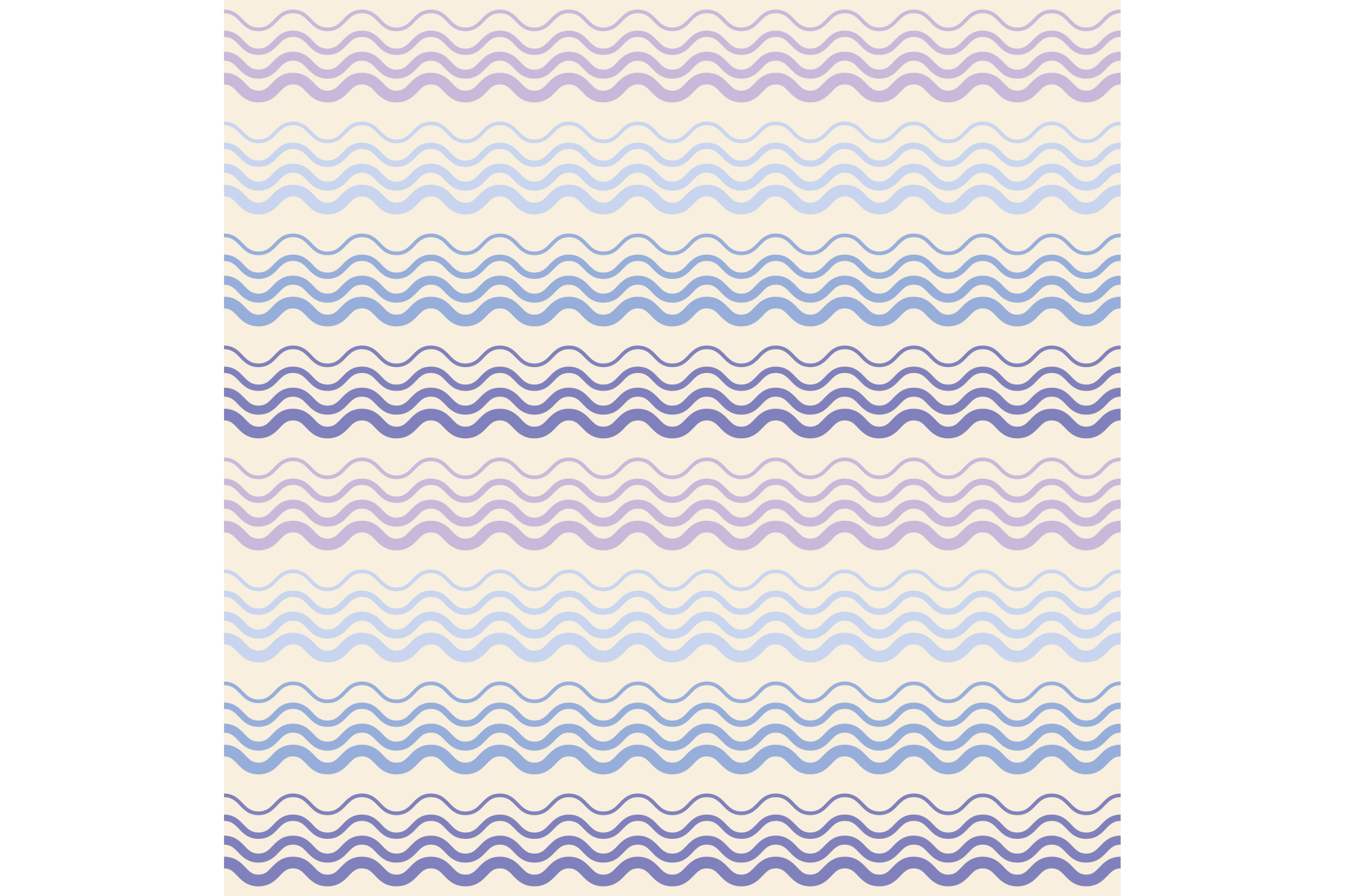 Seamless vector background with waves. Print. Repeating background. Cloth design, wallpaper. example image 1