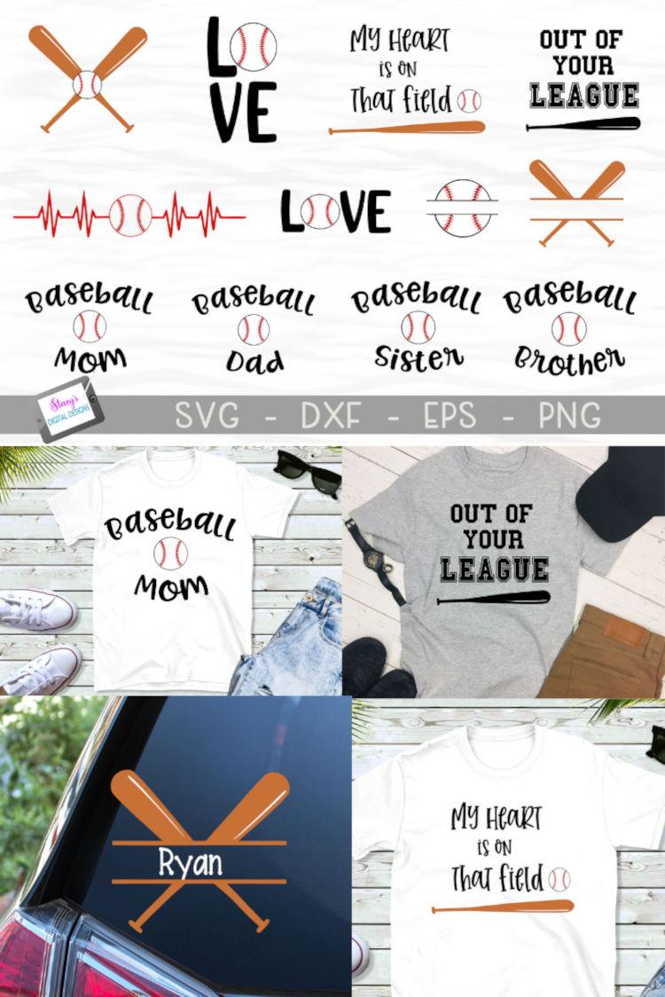 Baseball SVG Bundle - Includes 12 Baseball Designs example image 14