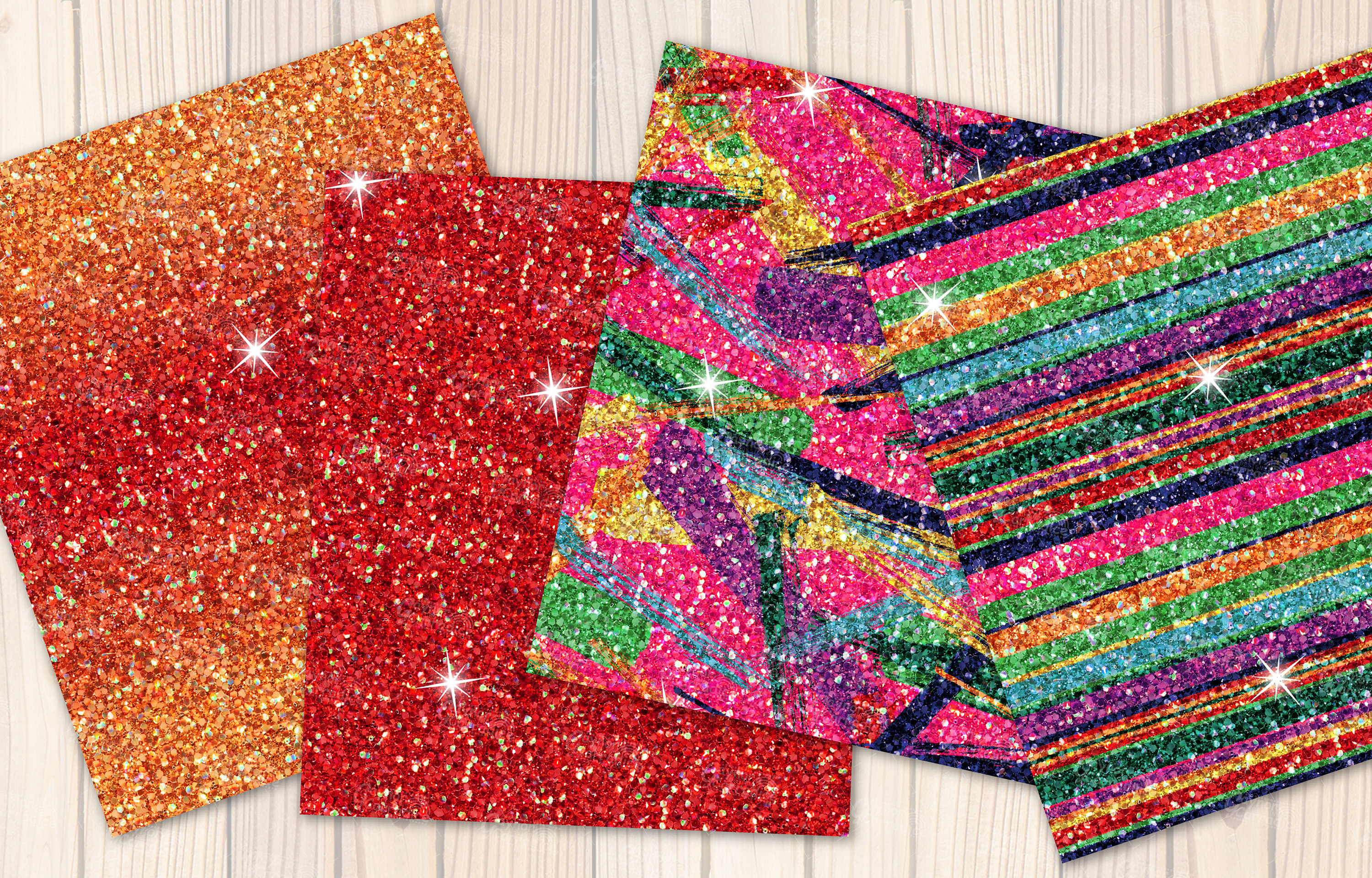 Mexican seamless Glitter backgrounds example image 5