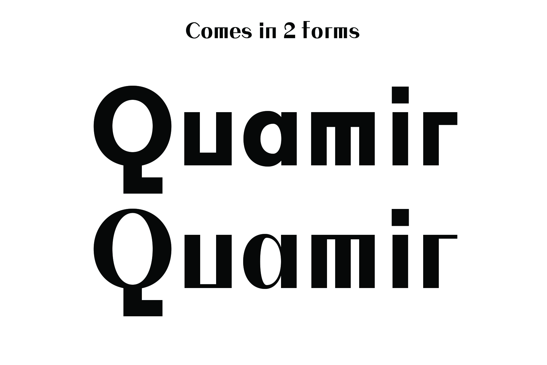 QUAMIR, A Display Font Duo example image 2