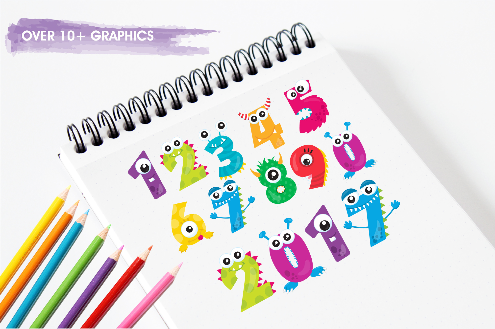 Monster Numbers graphics and illustrations example image 3