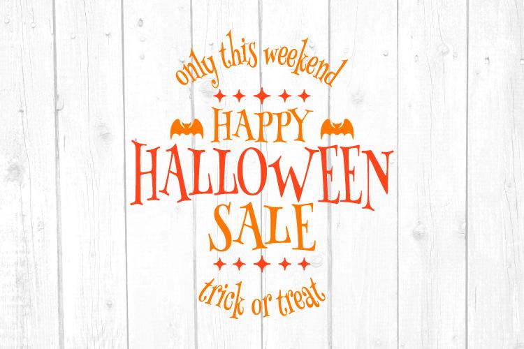 Happy Halloween Sale Svg, Halloween Sale, Halloween Svg example image 1